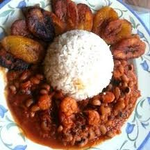 nkwa dua black eye peas and plantain red red