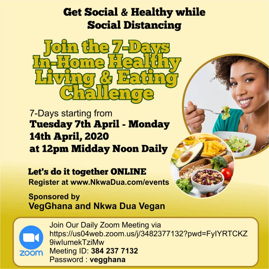 Nkwa Dua Vegan 7-day In-Home Healthy Living and Eating Challenge